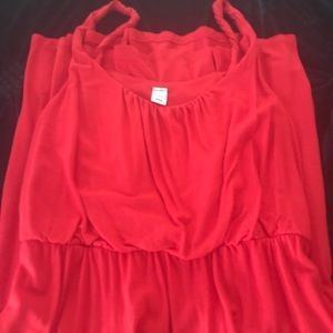 Red jersey knit dress. Old Navy. M